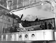 Asisbiz Spitfire on elevator of the carrier USS Wasp 1942 bound for Malta web 01