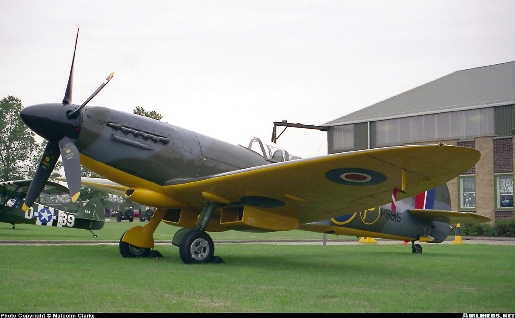 Airworthy Spitfire warbird MkXIVc P Prototype PS915 01