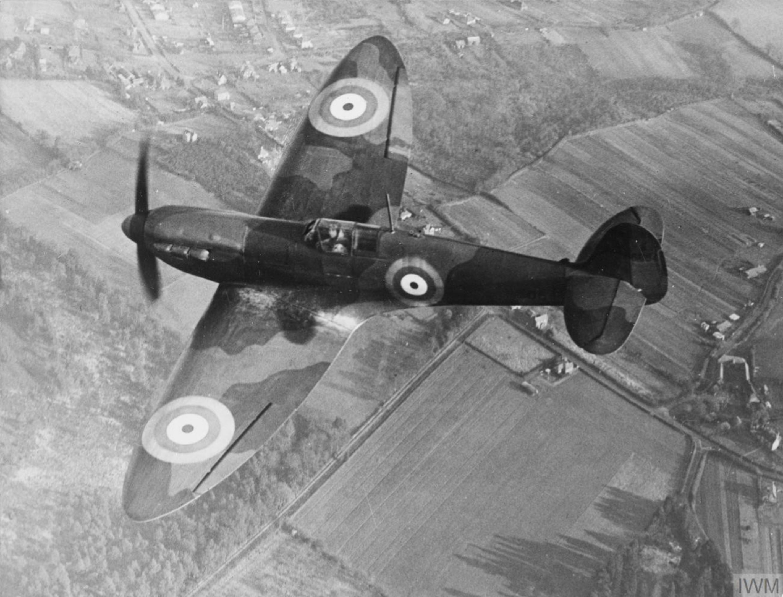 Spitfire 1 Prototype K5054 in flight over England 1939 IWM HU1660