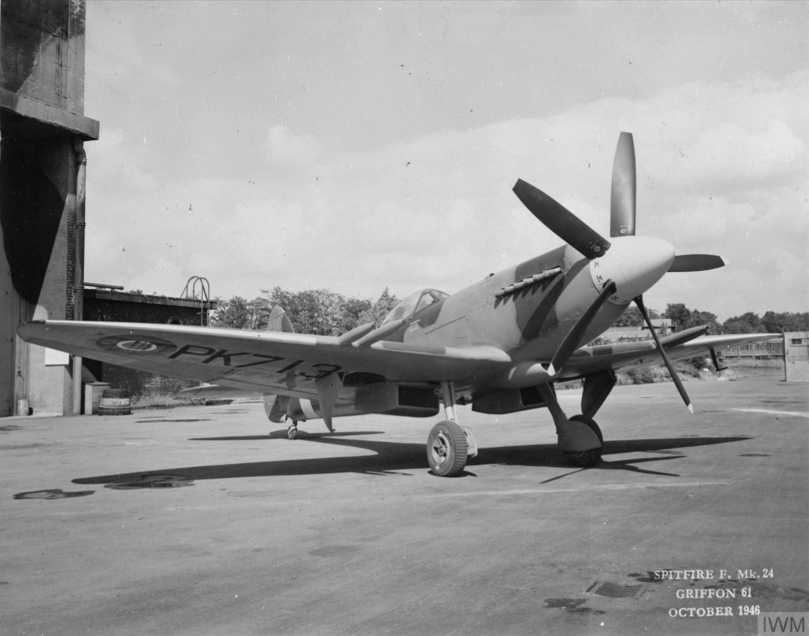 Spitfire 24 Prototype PK713 England Oct 1946 IWM MH5286