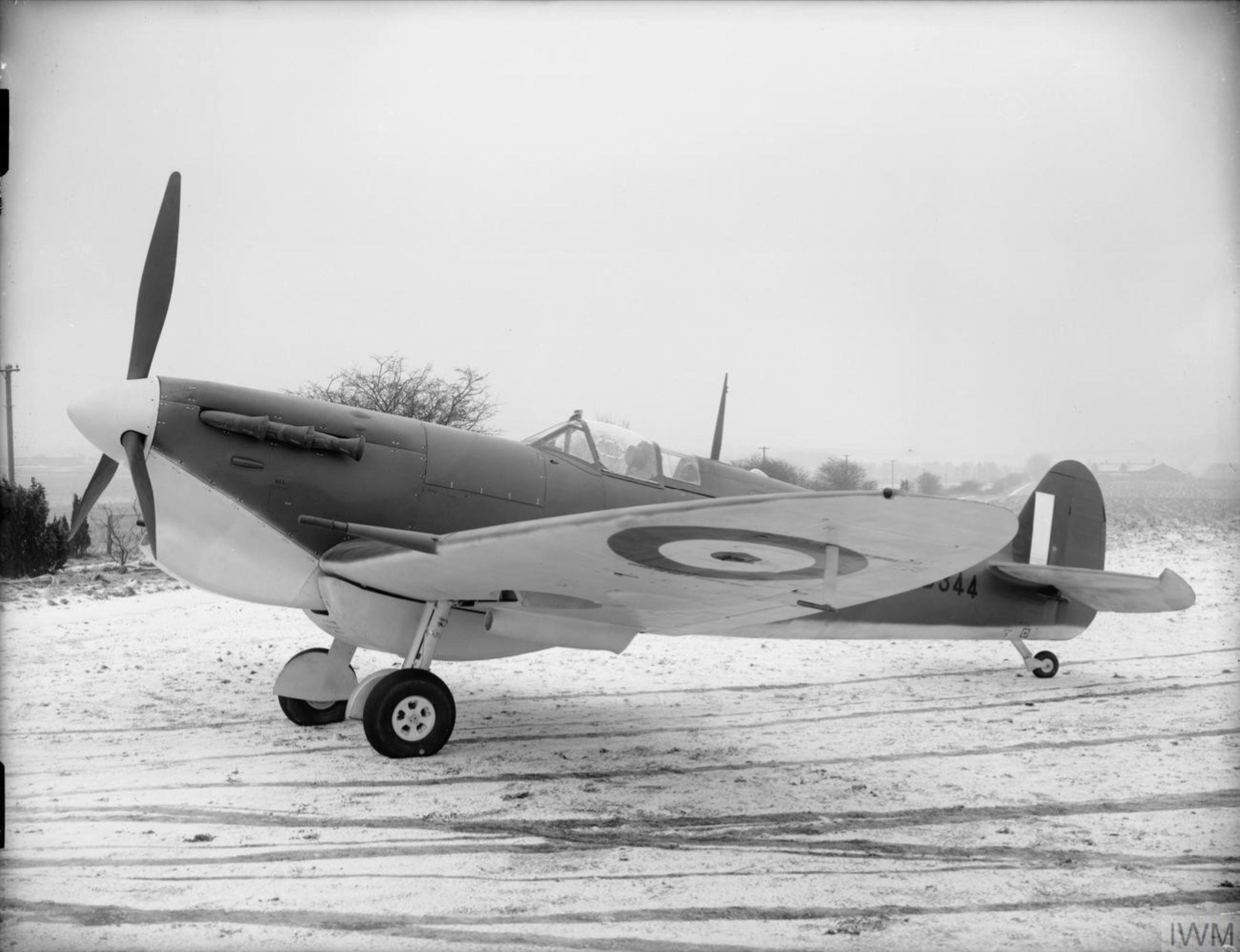 Spitfire 5 Trop Proyotype at Eastleigh Southampton IWM ATP10748F