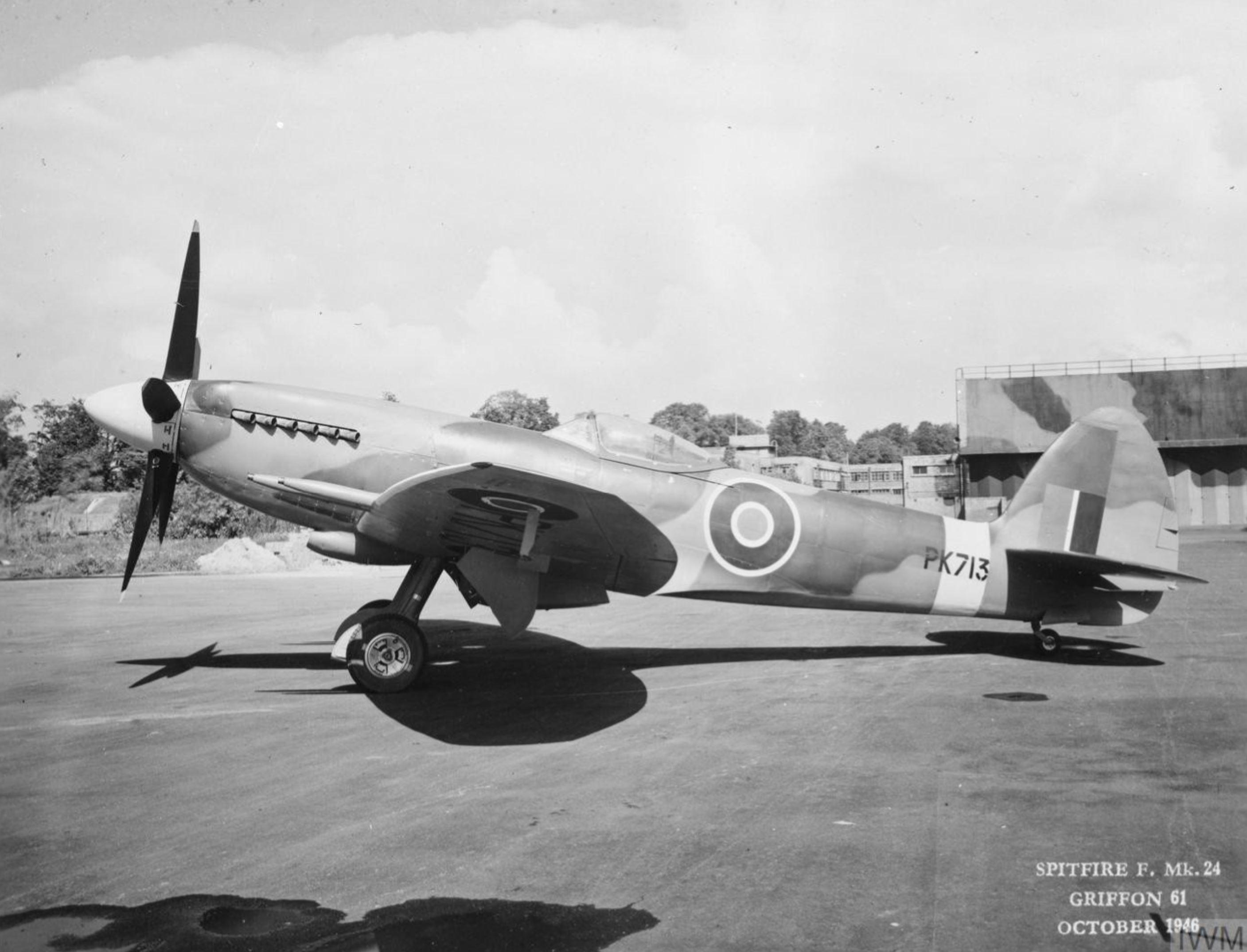 Spitfire F24 PK713 factory fresh Oct 1946 IWM MH5285