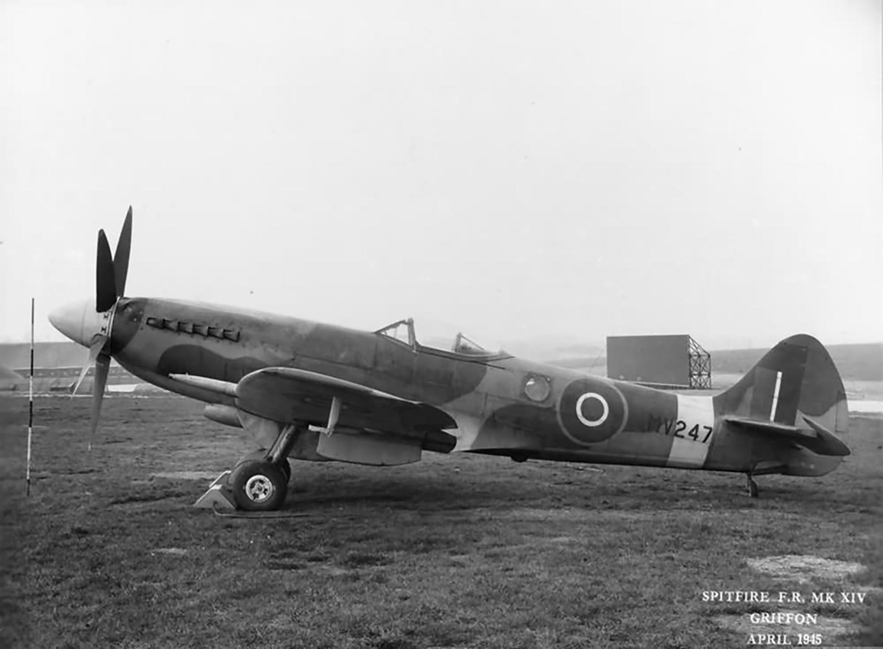 Spitfire FRXIV RAF MV247 fuel functioning tests at Boscombe Down Apr 1945 web 01