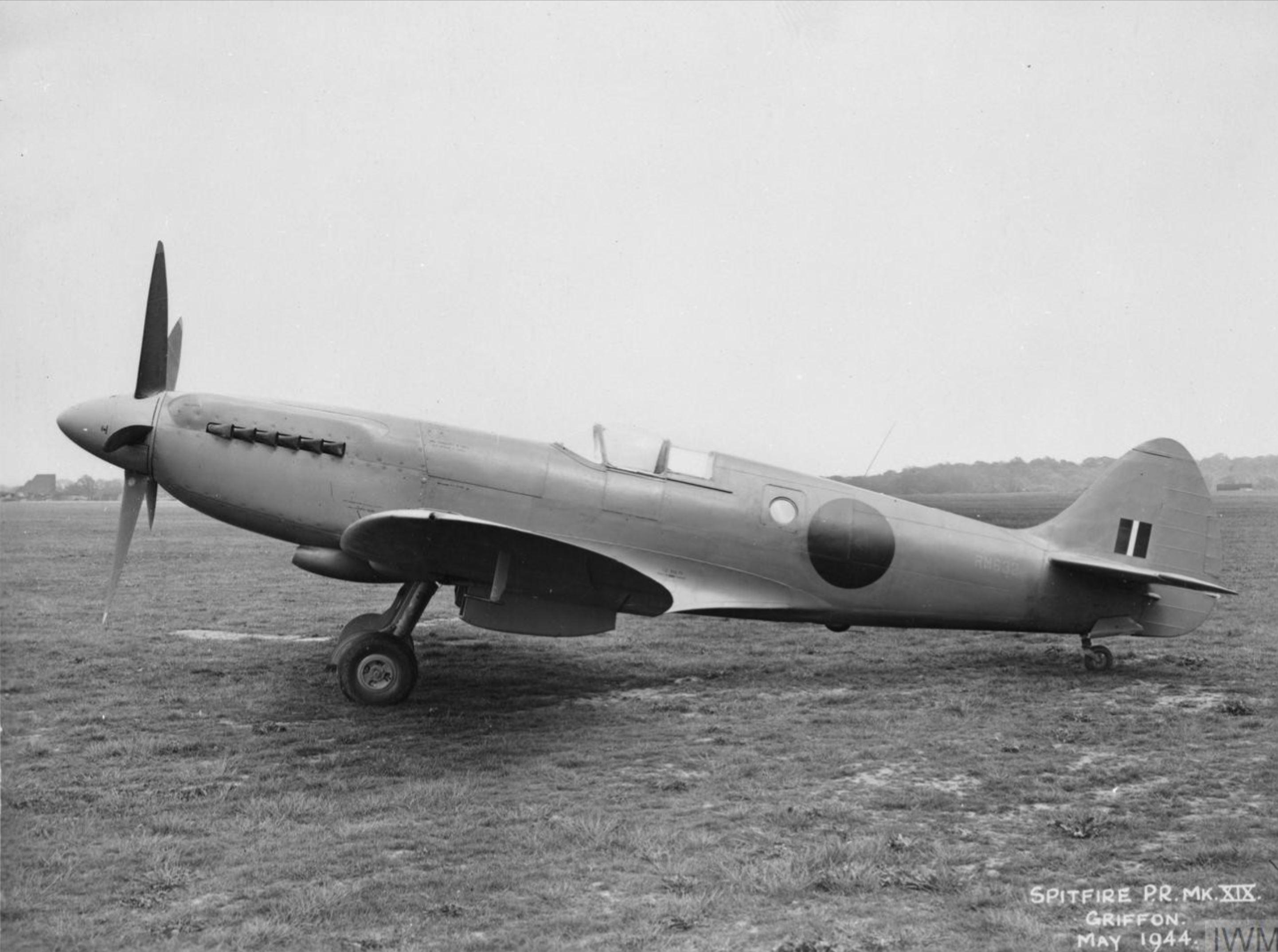 Spitfire PR19 Prototype RM632 factory fresh England May 1944 IWM MH5280