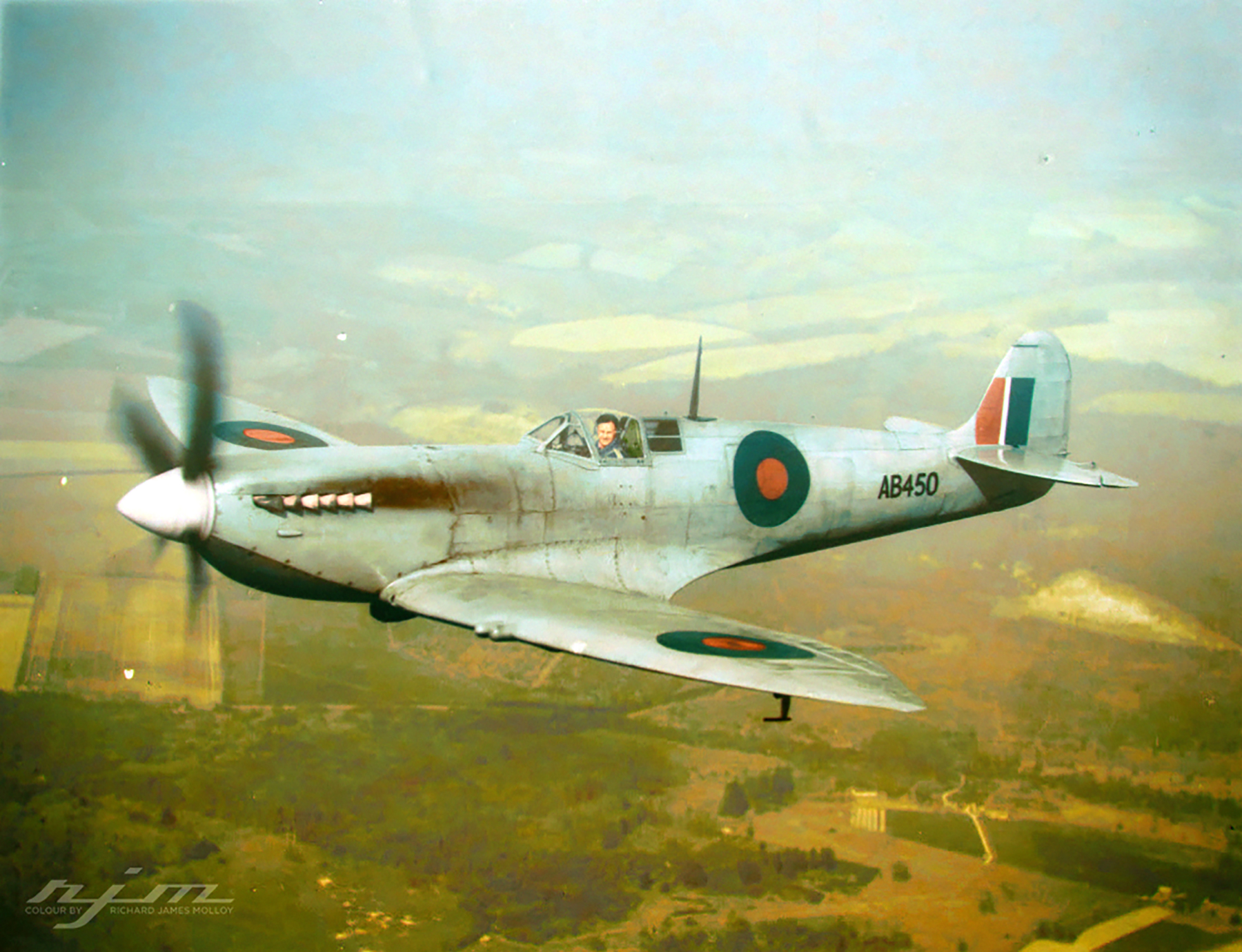 Spitfire VII prototype converted from a Spitfire V AB450 and later served with the Special Service