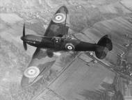 Asisbiz Spitfire 1 Prototype K5054 in flight over England 1939 IWM HU1660