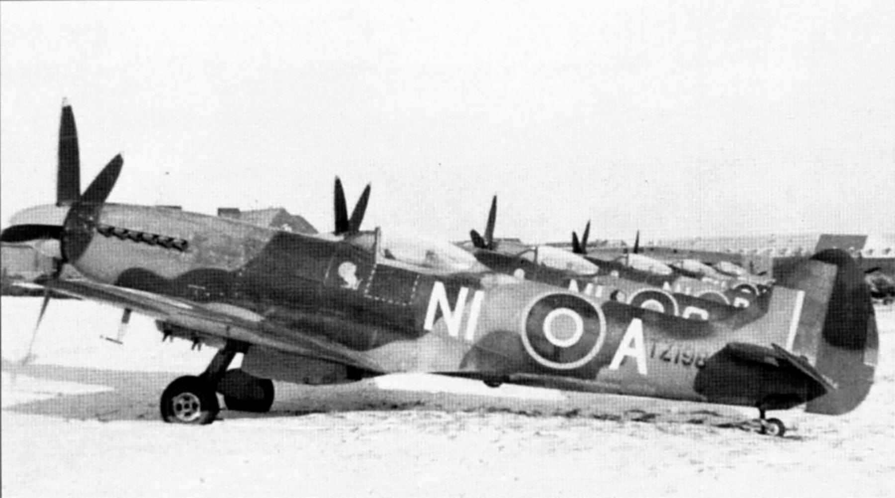 Spitfire FRXIV RAF 451Sqn NIA TZ198 Germany Jan 1946 01