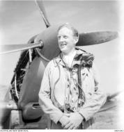 Asisbiz Aircrew RAAF 451Sqn FO ND MacKenzie at St Catherines Calvi Corsica France July 1944 AWM MEA1942