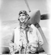 Asisbiz Aircrew RAAF 451Sqn FO RT Milner at St Catherines Calvi Corsica France July 1944 AWM MEA1943