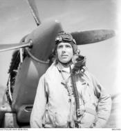 Asisbiz Aircrew RAAF 451Sqn FSgt AT Roe at St Catherines Calvi Corsica France July 1944 AWM MEA1940