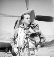 Asisbiz Aircrew RAAF 451Sqn FSgt CG Ball at St Catherines Calvi Corsica France July 1944 AWM MEA1935