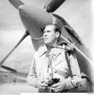 Asisbiz Aircrew RAAF 451Sqn FSgt ER Newberry at St Catherines Calvi Corsica France July 1944 AWM MEA1937
