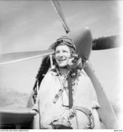Asisbiz Aircrew RAAF 451Sqn FSgt GR Hill at St Catherines Calvi Corsica France July 1944 AWM MEA1941