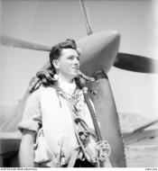 Asisbiz Aircrew RAAF 451Sqn FSgt SJ Kelly at St Catherines Calvi Corsica France July 1944 AWM MEA1936