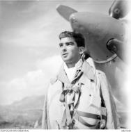 Asisbiz Aircrew RAAF 451Sqn FSgt WR Field at St Catherines Calvi Corsica France July 1944 AWM MEA1938