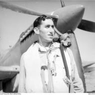 Asisbiz Aircrew RAAF 451Sqn WO J Barrington at St Catherines Calvi Corsica France July 1944 AWM MEA1933