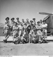 Asisbiz Aircrew RAAF 451Sqn pilots at St Catherines Calvi Corsica France July 1944 AWM MEA1932