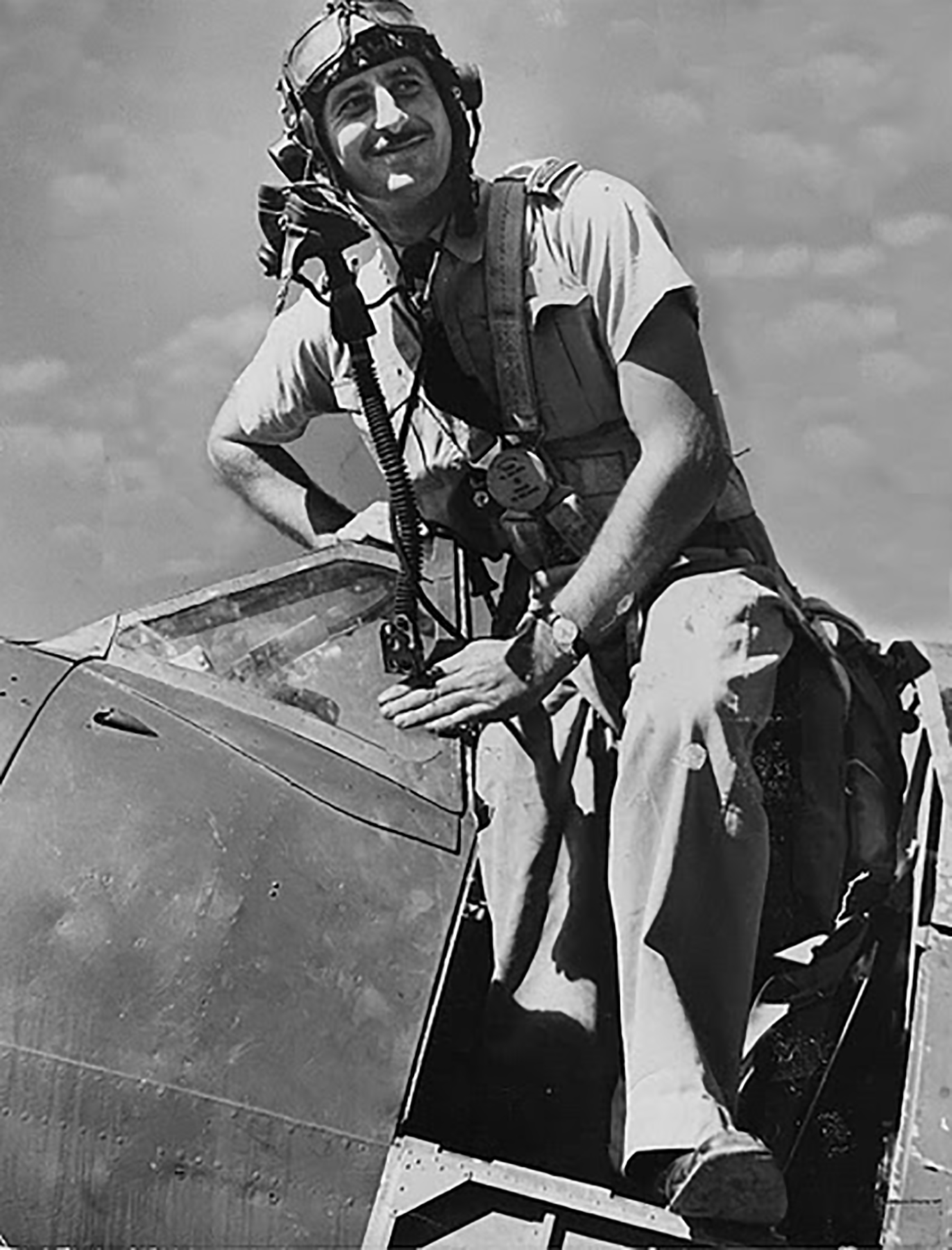 Aircrew RAAF 452 Squadron Bardie in Spitty 01
