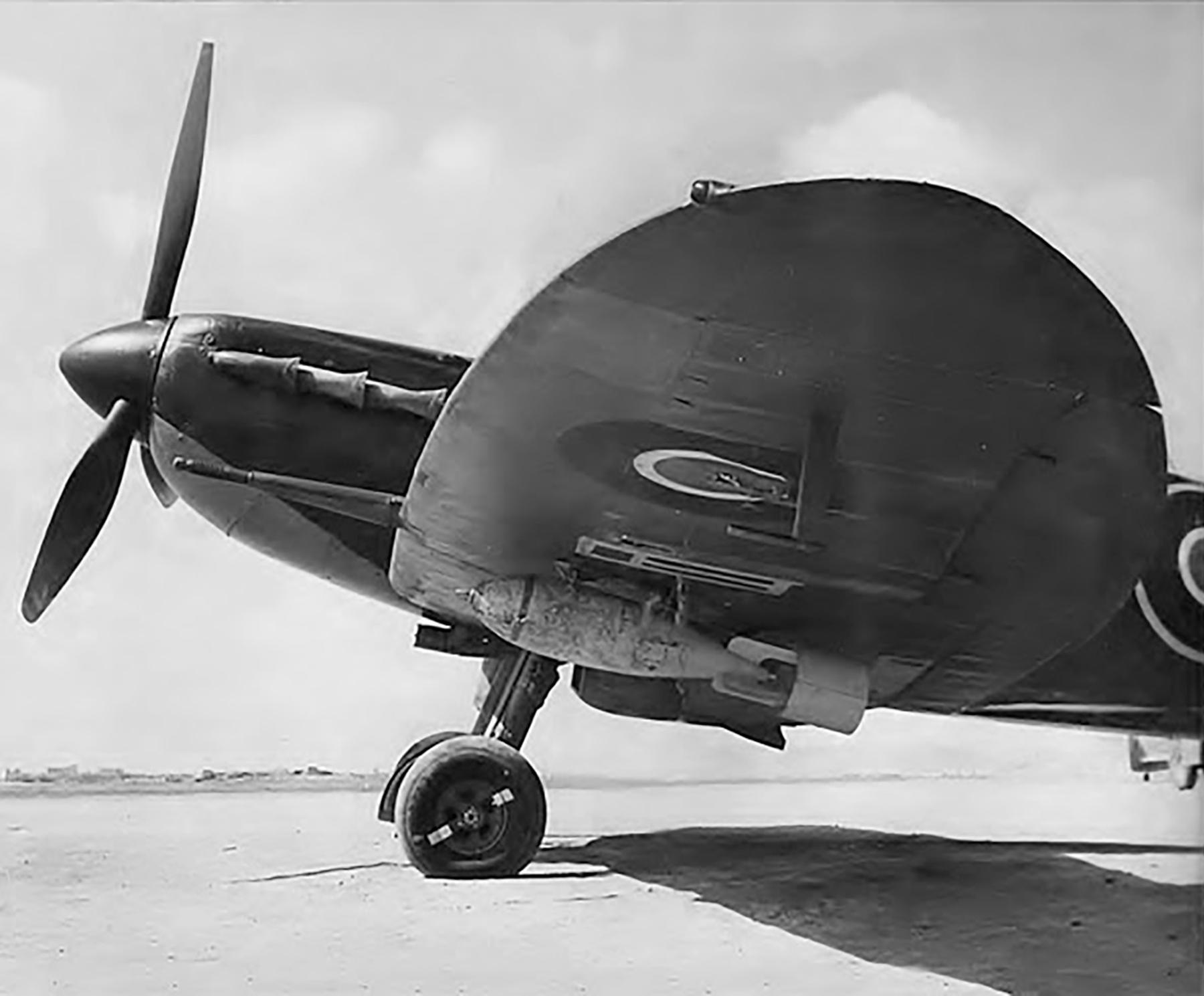Spitfires MkV RAAF 452Sqn Spitfire with bombs 01
