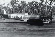 Asisbiz Spitfire MkVcTrop RAAF 452Sqn QYP PO Jeff King landing due to fire Hughes Airstrip NT 11th Dec 1943 AWM P01734