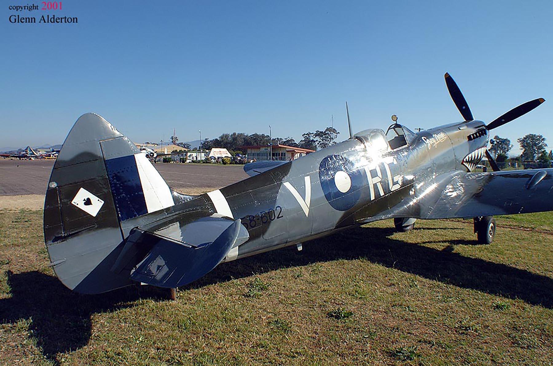 Airworthy Spitfire warbird RAAF 457Sqn RGV A58 602 06