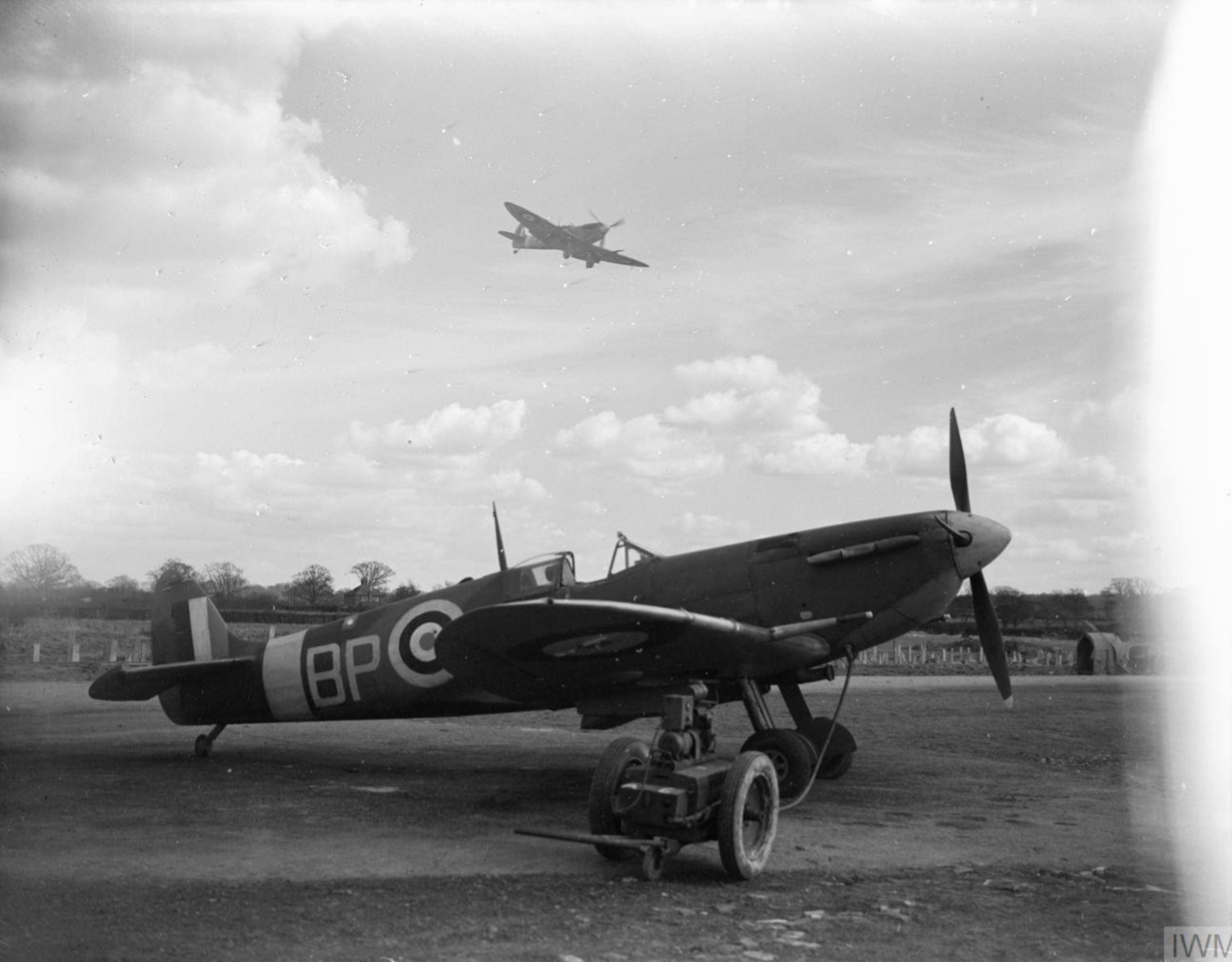 Spitfire MkVb RAAF 457Sqn BP at Redhill Surrey IWM CH5251