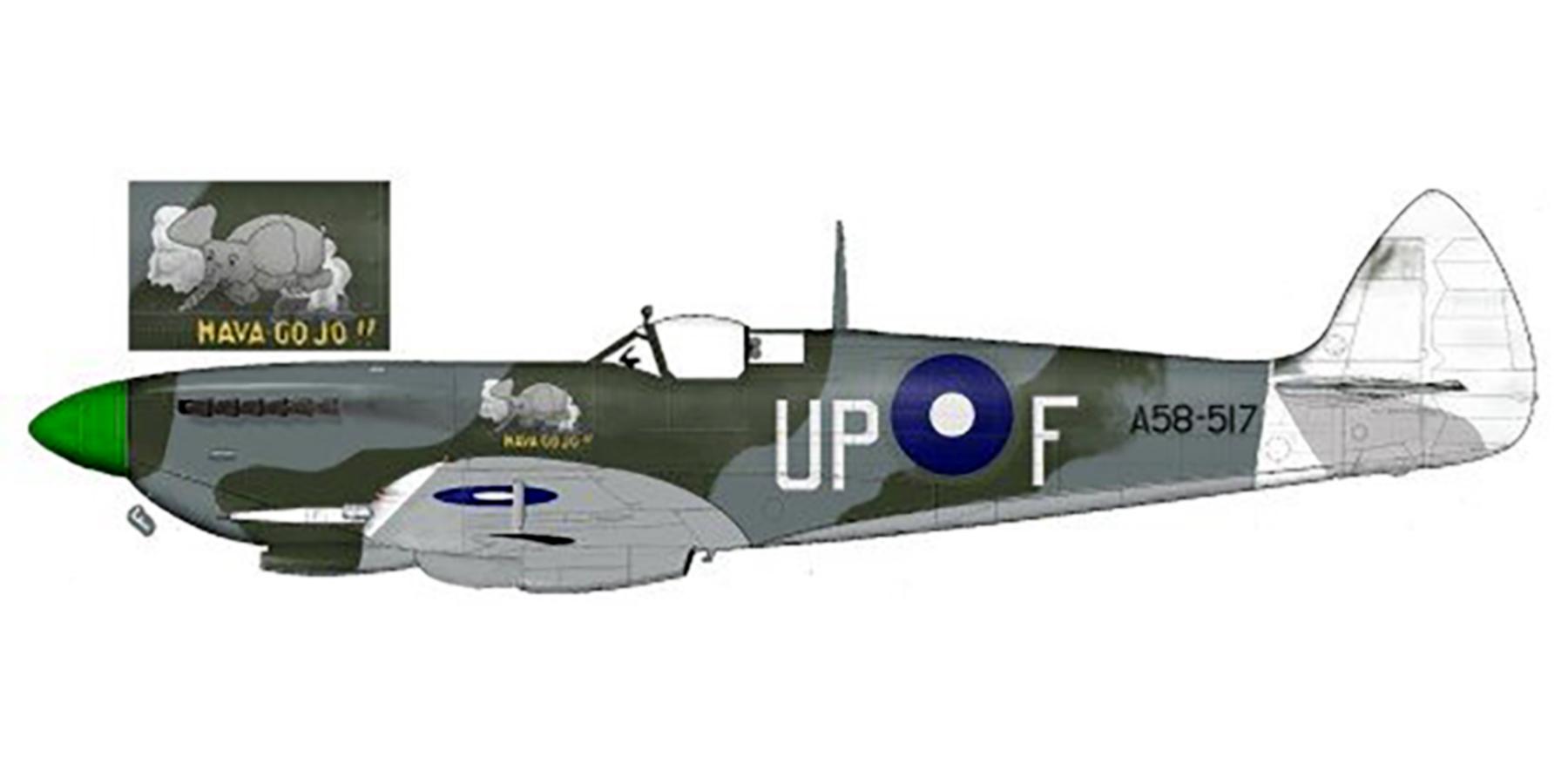 Spitfire LFVIII RAAF 79Sqn UPF Norman Smithell A58 517 Morotai 1945 0A