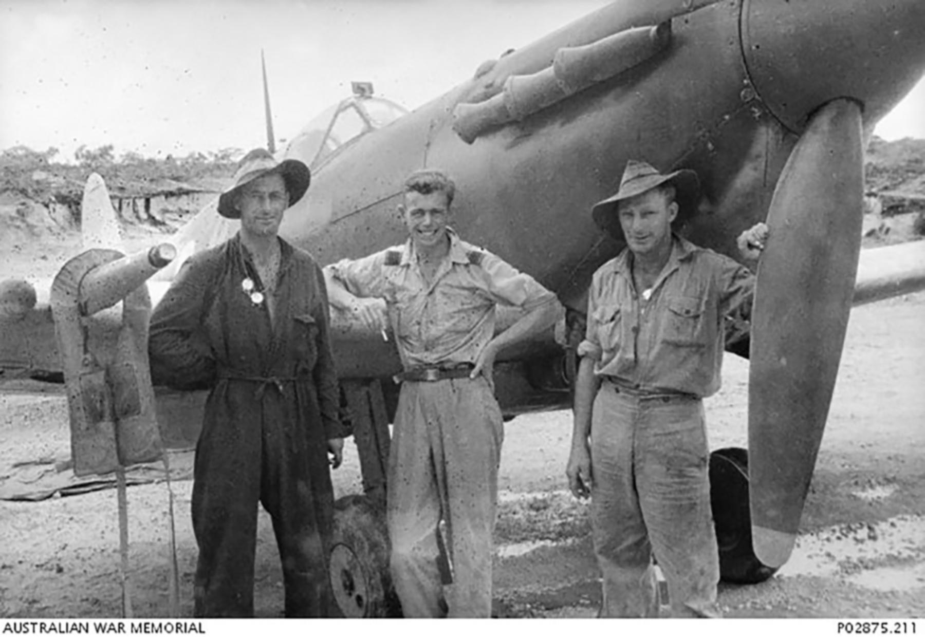 Spitfire MkVc RAAF 79Sqn UPM A58 28 PNG 1944 IWM 01
