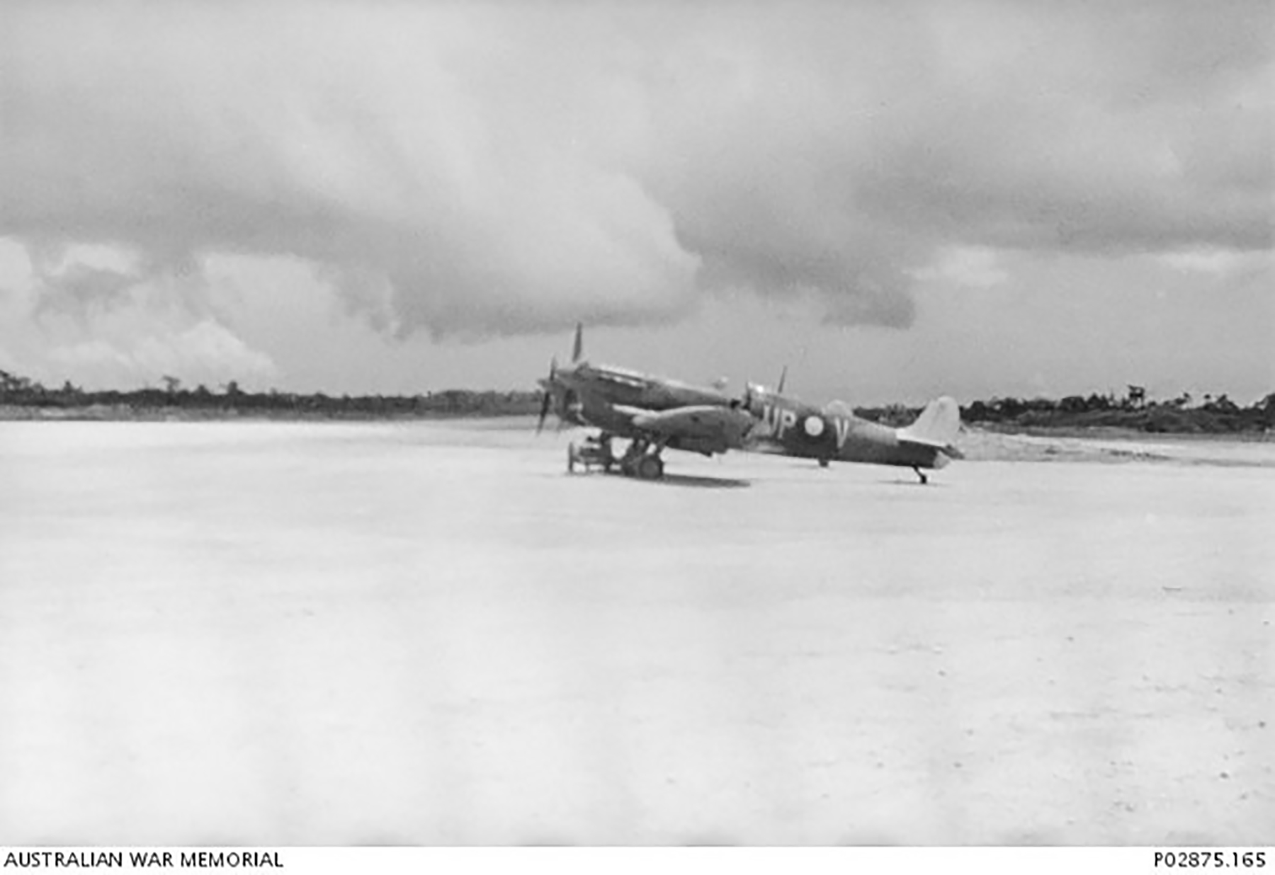 Spitfire MkVc RAAF 79Sqn UPV A58 145 RAF EE852 Kiriwina Sep 1943 AWM 02