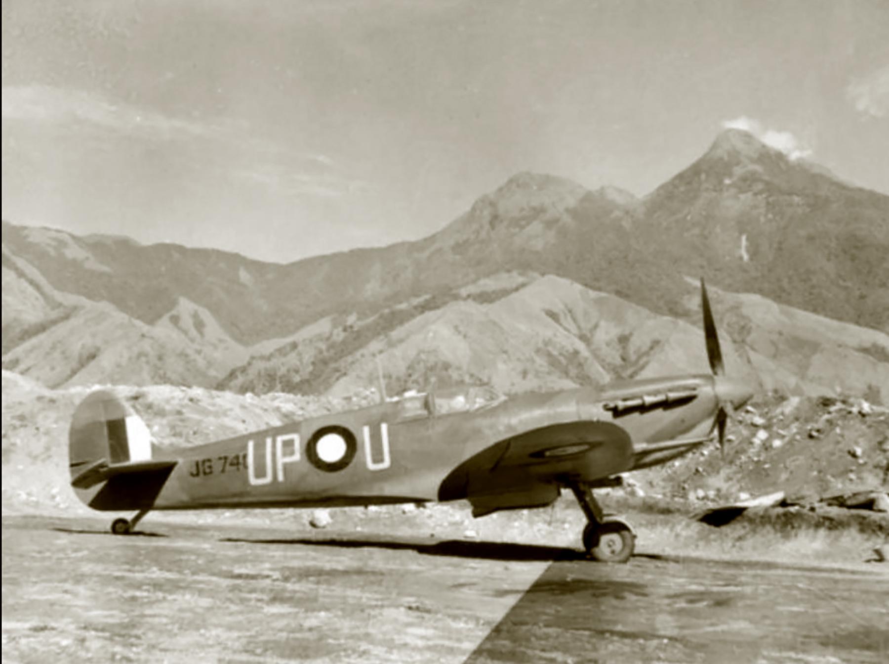 Spitfire Vc RAAF 79Sqn UPU JG740 July 1944 AWM