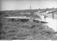 Asisbiz Spitfire MkVc RAAF 79Sqn UPG A58 178 landing accident Kiriwina 12 Jan 1944 AWM 01
