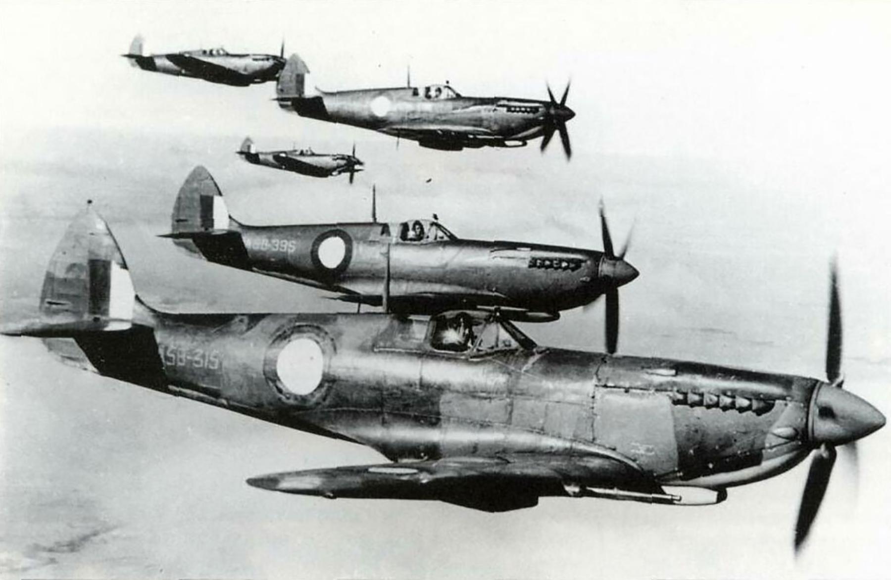 Spitfire LFVIII RAAF 6AD A58 315 over NSW 1945 01