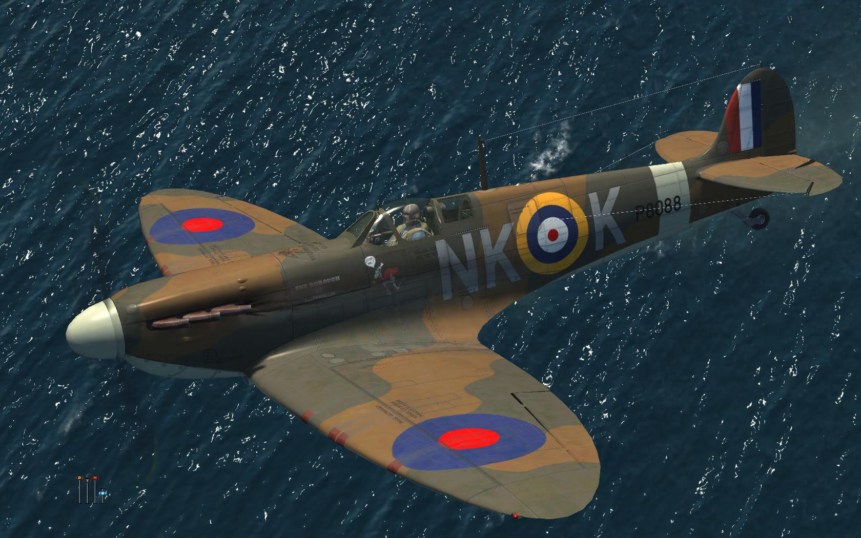 COD KF MkI RAF 118Sqn NKK P8088 Lumsden in Ibsley May 1941 V0A