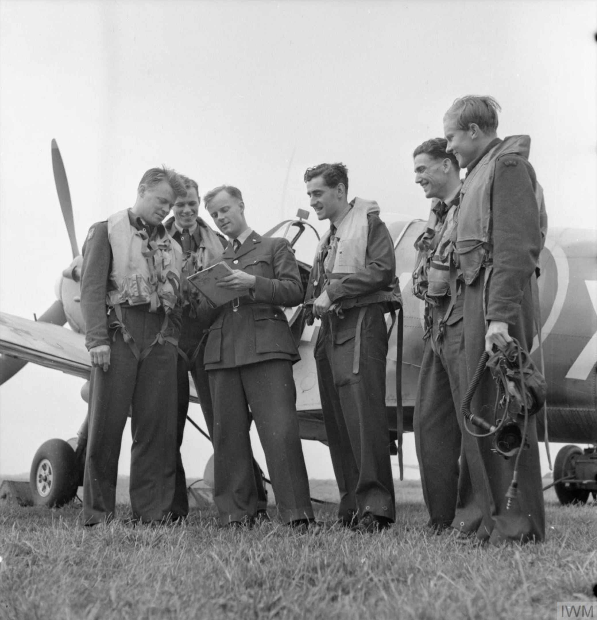 Aircrew RAF 121Sqn at RAF Rochford in Essex Aug 1942 IWM D9520