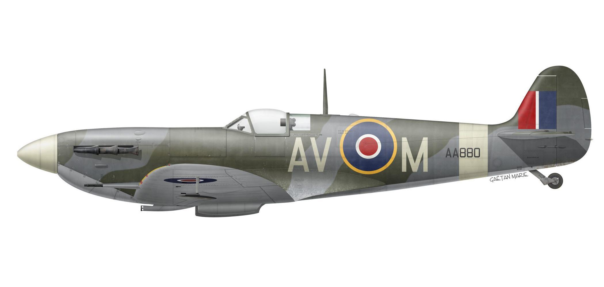 Spitfire MkVb RAF 121Sqn AVM Nicholas Sintetos AA880 July 1942 0A