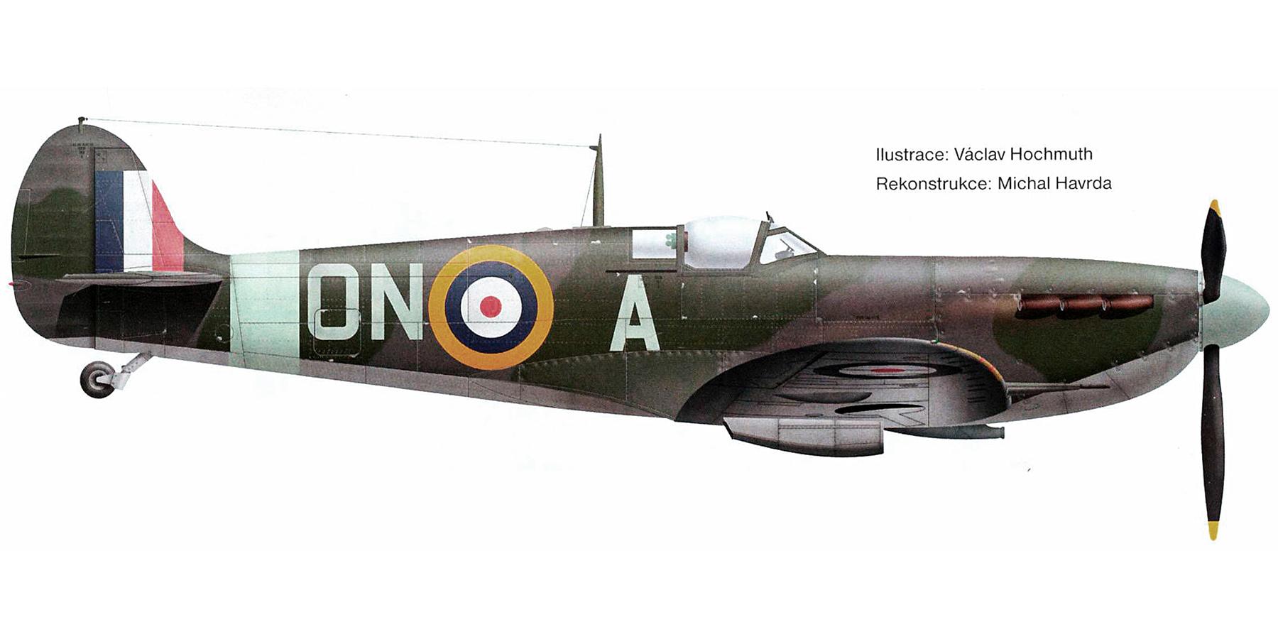 Spitfire MkVb RAF 124Sqn ONA flown by Michael Reid AA761 Biggin Hill Mar 1942 0A