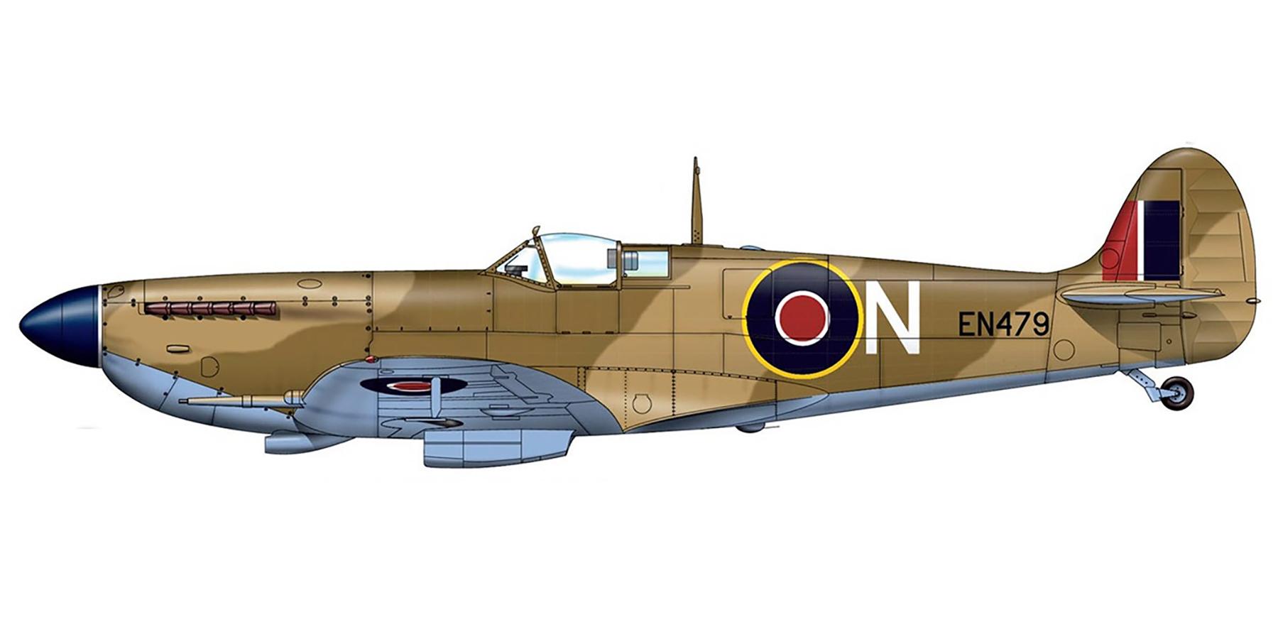 Spitfire MkIX RAF 126Sqn N EN479 Safi Malta 1943 0A