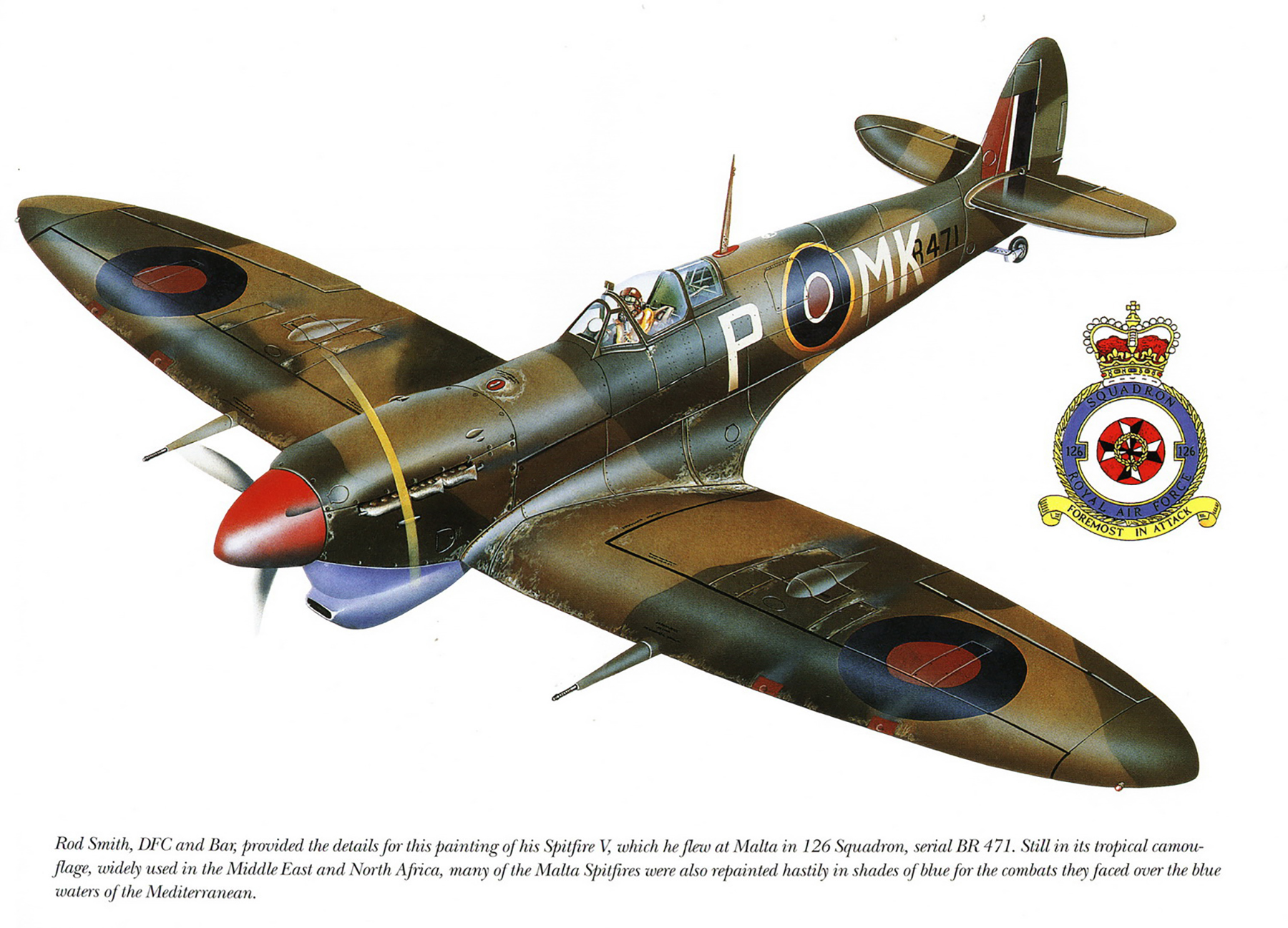 Spitfire MkVcTrop RAF 126Sqn MKP Rod Smith BR471 Safi Malta 1942 0A