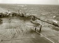 Asisbiz Spitfire MkVbTrop RAF 126Sqn BP844 taking off from HMS Eagle to reinforce Malta 21st Mar 1942 IWM A9583