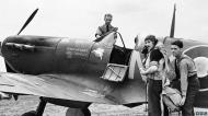 Asisbiz Spitfire MkVb RAF 131Sqn NXA with NG Pedley at Merston Sussex IWM CH5883a