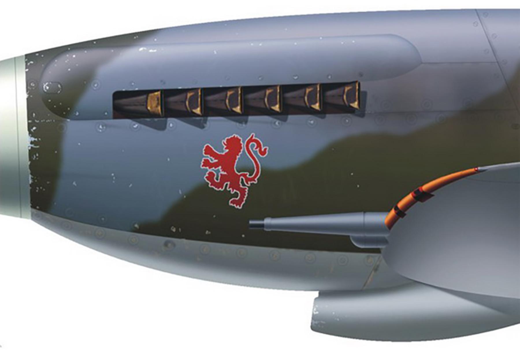 Spitfire XVI RAF 132Sqn FFB Lenneth Charney RN133 India Aug 1945 0B