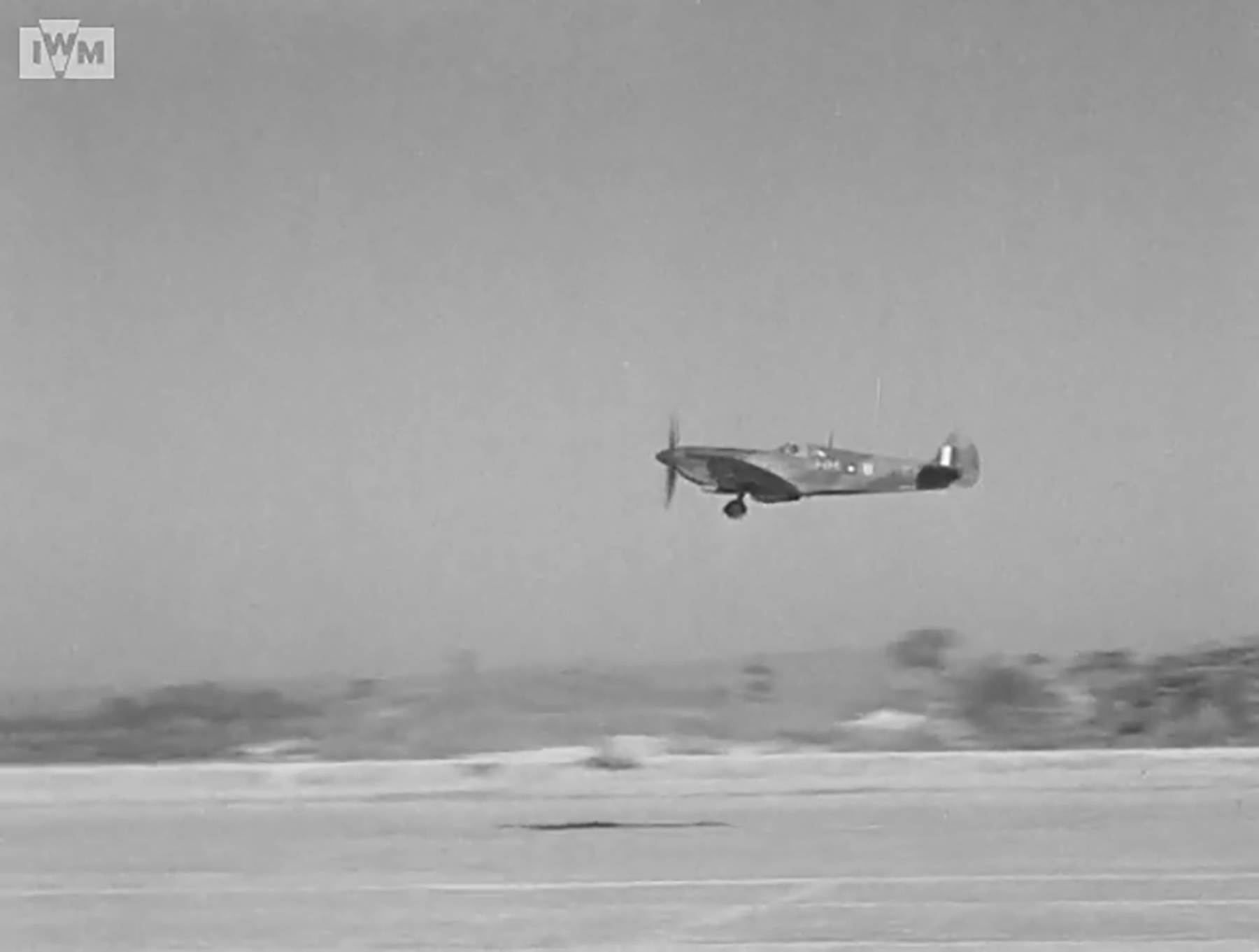 Spitfire VIII RAF 136Sqn HM taking off from Rumkhapalong operating over Burma CBI 1944 IWM 01