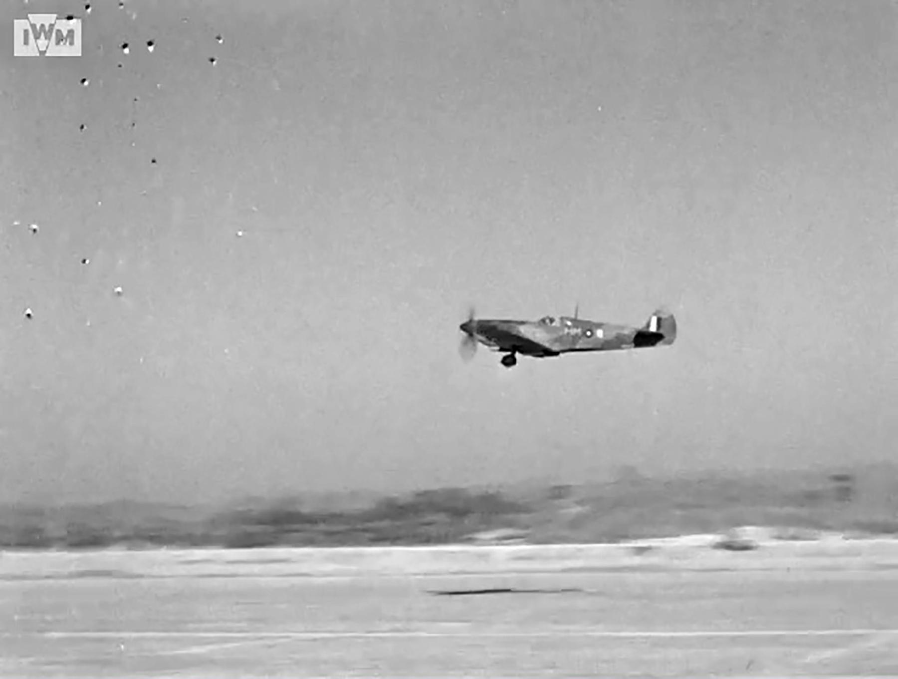 Spitfire VIII RAF 136Sqn HM taking off from Rumkhapalong operating over Burma CBI 1944 IWM 02