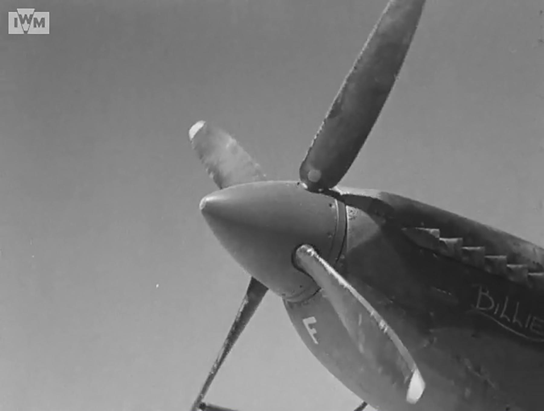 Spitfire VIII RAF 136Sqn HMF Billie at Rumkhapalong operating over Burma CBI 1944 IWM 02