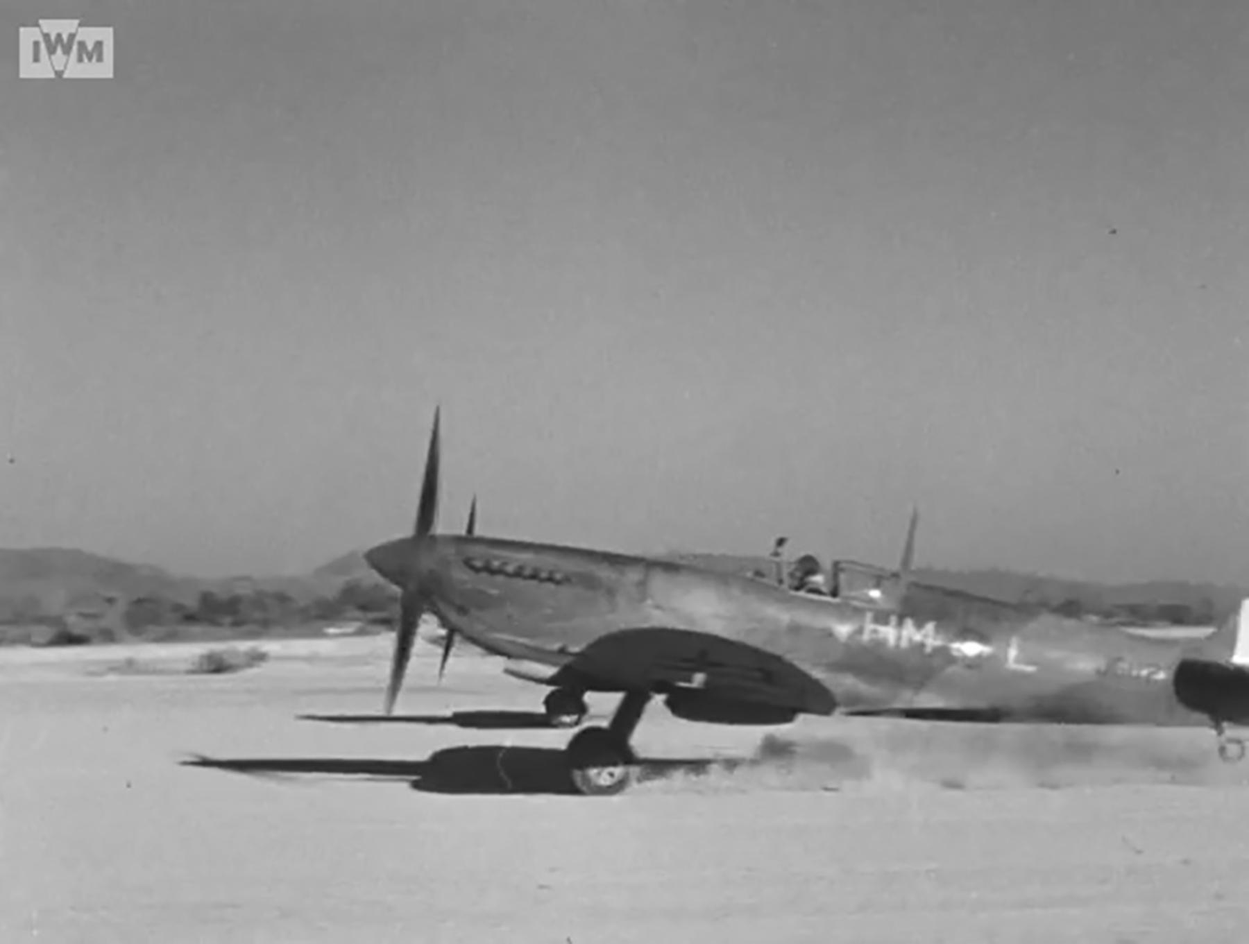 Spitfire VIII RAF 136Sqn HML JG112 at Rumkhapalong operating over Burma CBI 1944 IWM 02