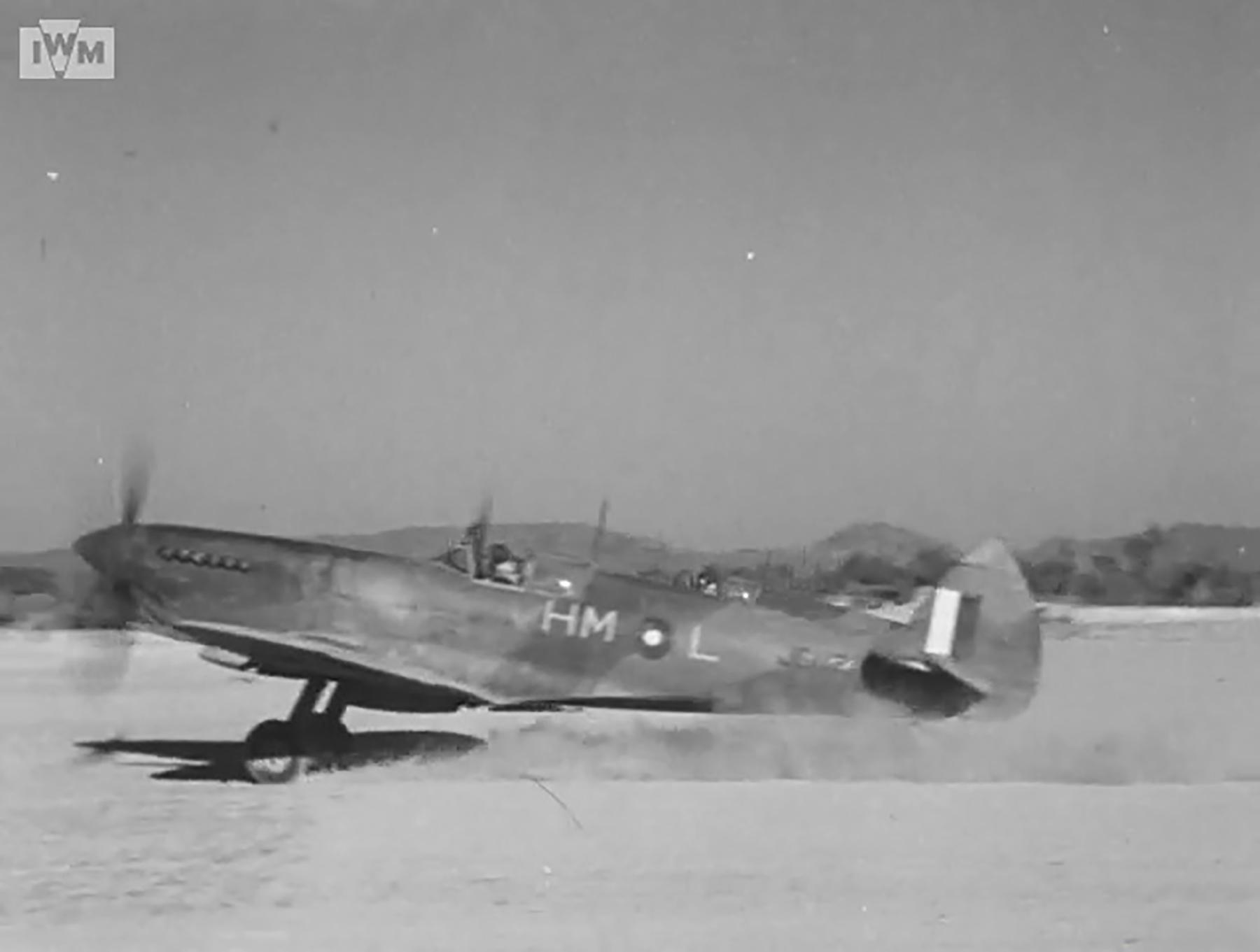 Spitfire VIII RAF 136Sqn HML JG112 at Rumkhapalong operating over Burma CBI 1944 IWM 03