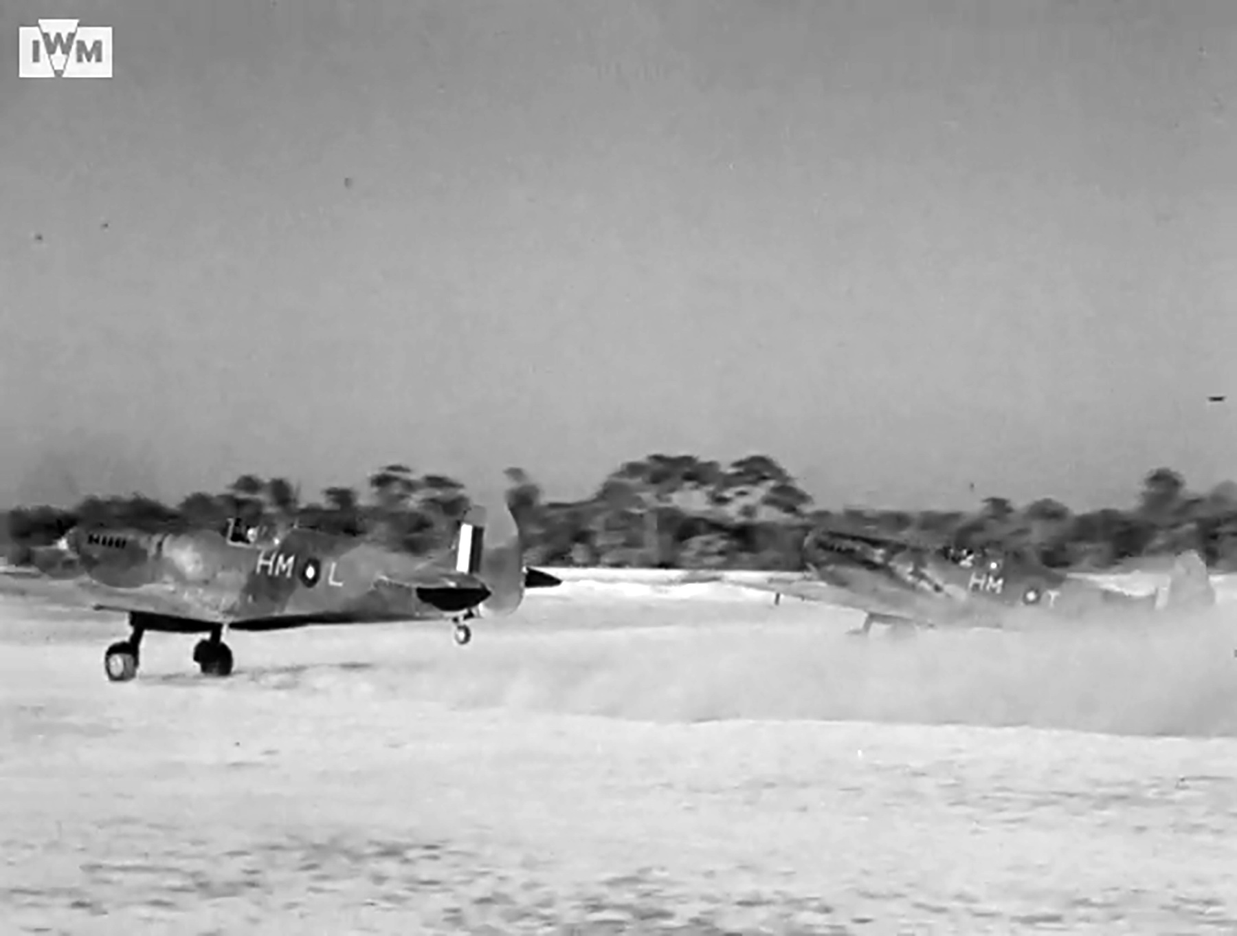 Spitfire VIII RAF 136Sqn HML and HMT taking off from Rumkhapalong operating over Burma CBI 1944 IWM 01