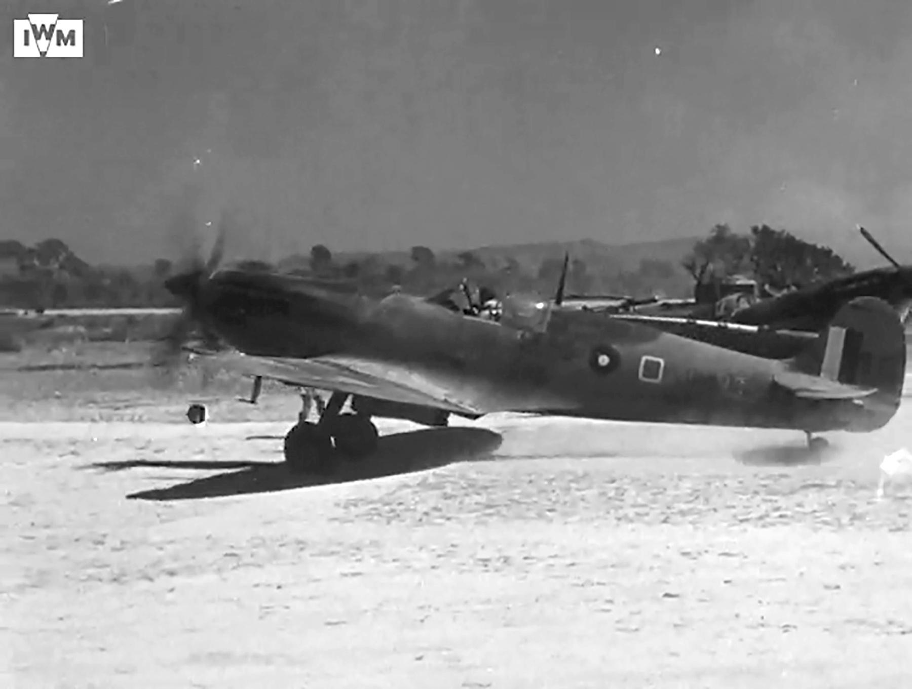 Spitfire VIII RAF 136Sqn HMO taking off from Rumkhapalong operating over Burma CBI 1944 IWM 01