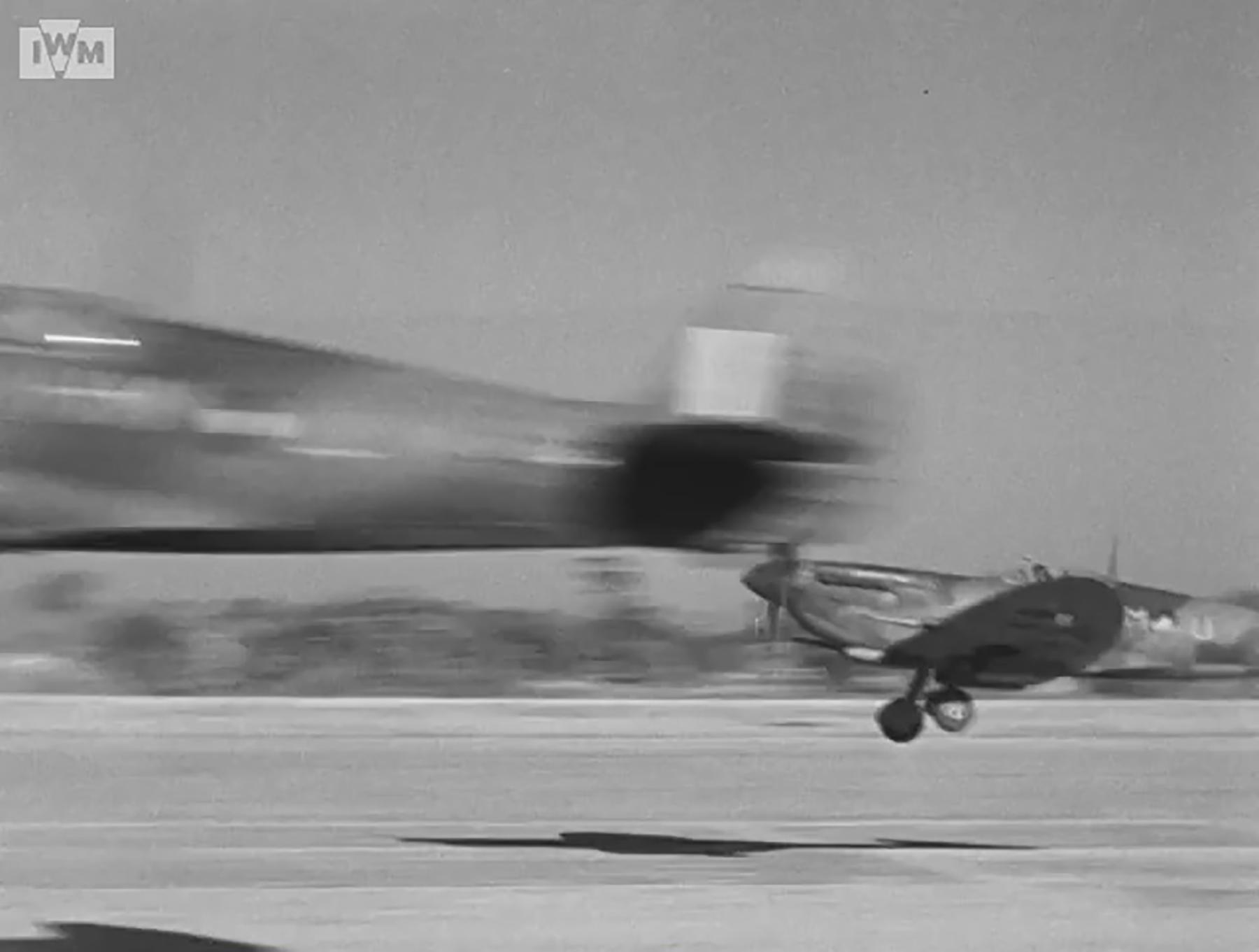 Spitfire VIII RAF 136Sqn HMU taking off from Rumkhapalong operating over Burma CBI 1944 IWM 01