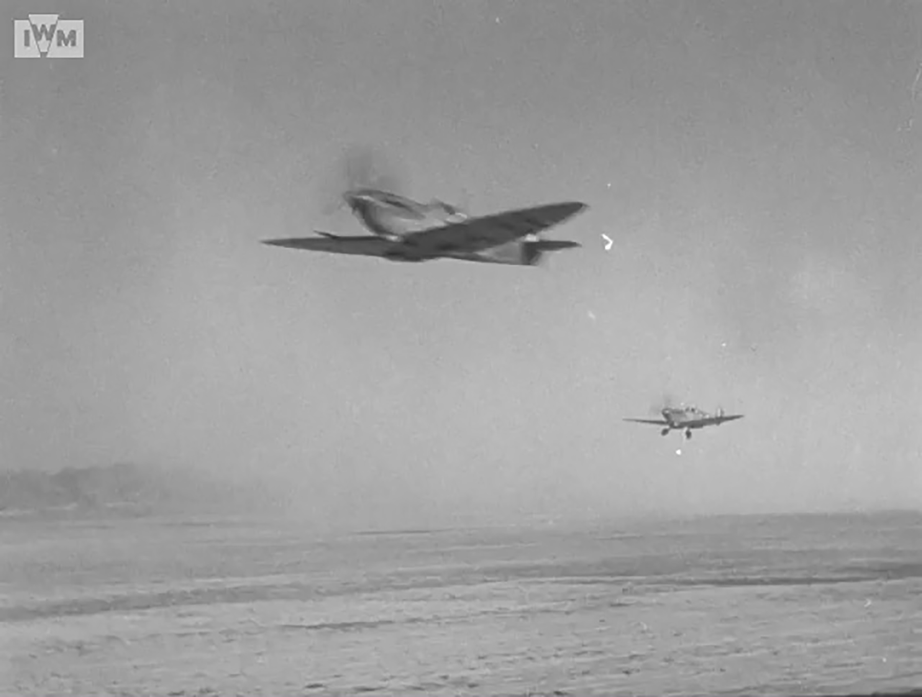 Spitfire VIII RAF 136Sqn in line abreast formation taking off from Rumkhapalong Bangladesh CBI 1944 IWM 02